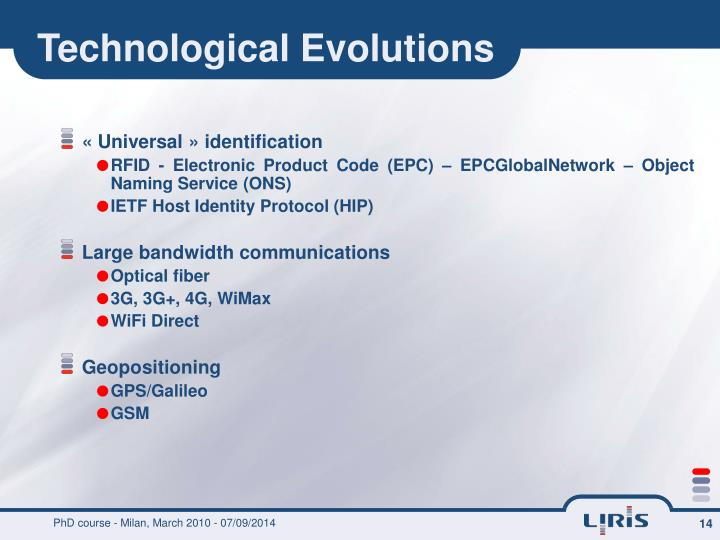 Technological Evolutions