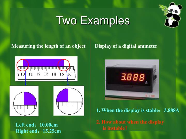 Two Examples