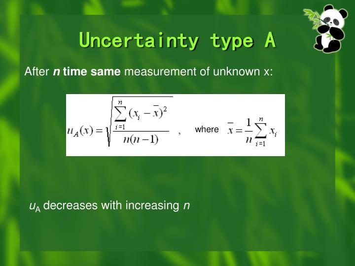 Uncertainty type
