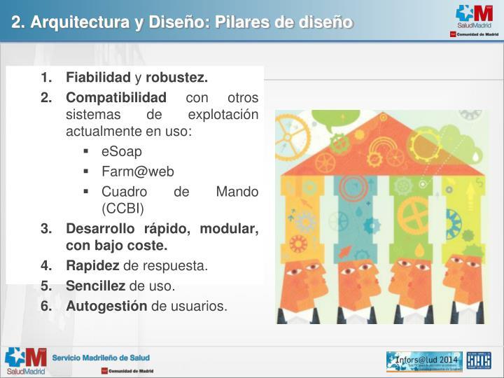 2. Arquitectura y Diseño: Pilares de diseño