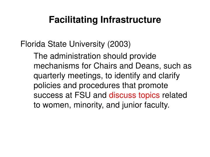 Facilitating Infrastructure