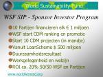 wsf sip sponsor investor program