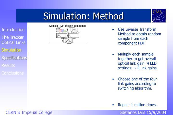 Simulation: Method