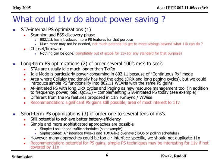 What could 11v do about power saving ?