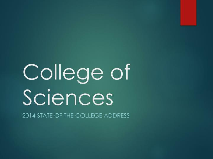 college of sciences n.