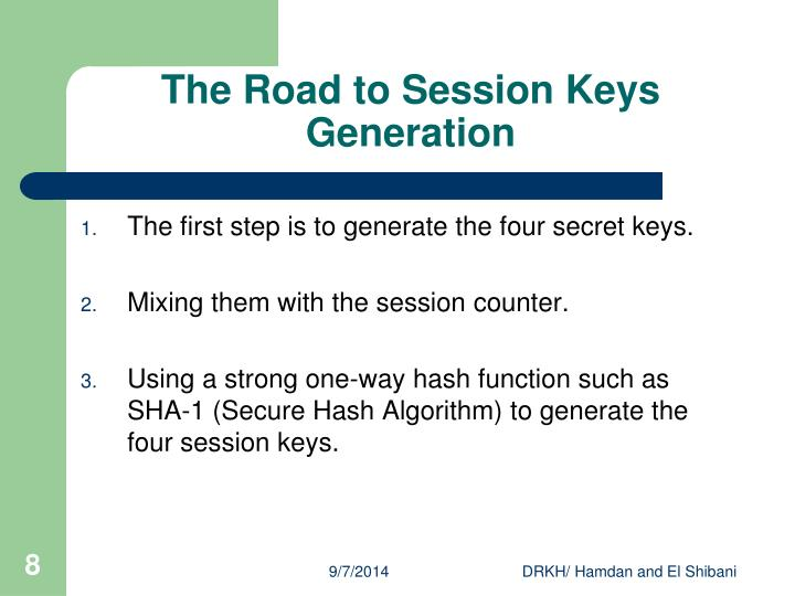 The Road to Session Keys Generation