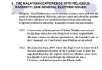 3 the malaysian experience with religious diversity 2008 general election issues