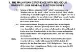 3 the malaysian experience with religious diversity 2008 general election issues1