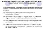 4 managing religious pluralism in southeast asia principles of inter faith dialogue