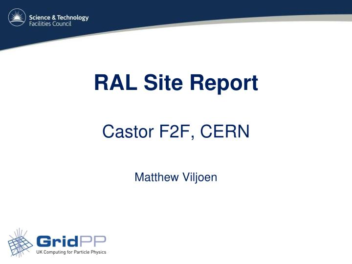 ral site report n.