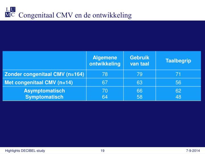 Congenitaal CMV en de ontwikkeling
