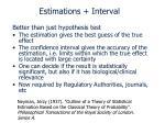 estimations interval