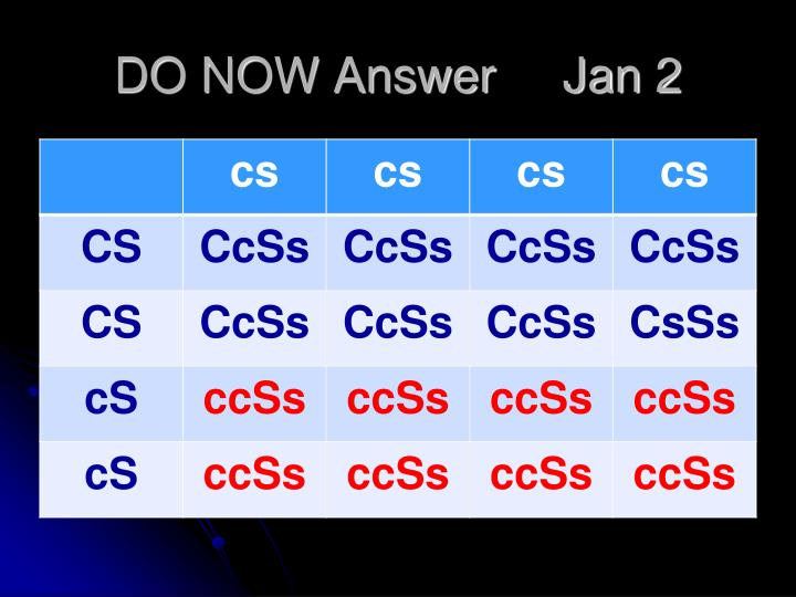 DO NOW Answer     Jan 2