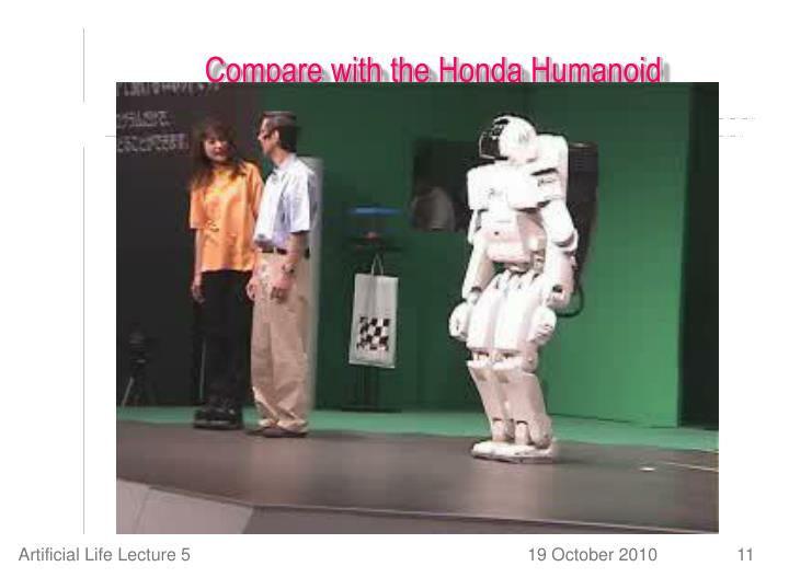 Compare with the Honda Humanoid