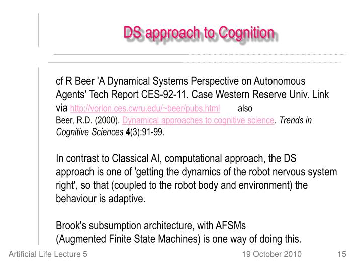 DS approach to Cognition