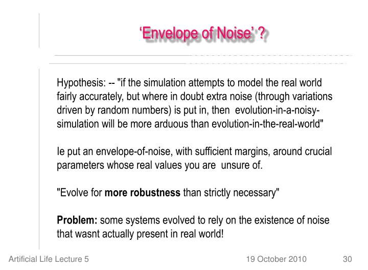 'Envelope of Noise' ?