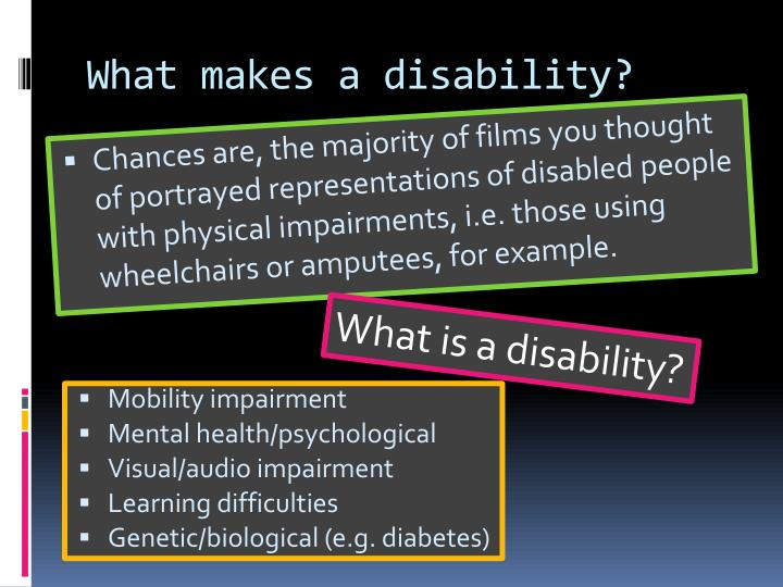 an analysis of the portrayal of disabilities in movies Modern portrayal of people with disabilities in the media is antagonists in movies innocent portrayal disability in the media has become.