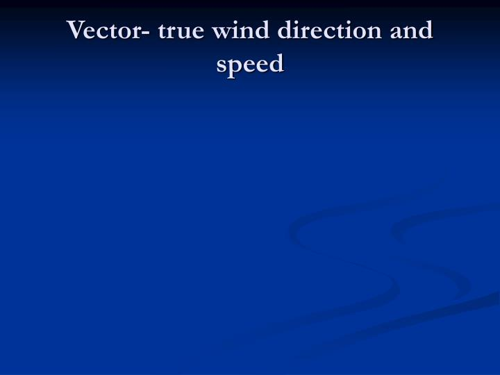 Vector- true wind direction and speed