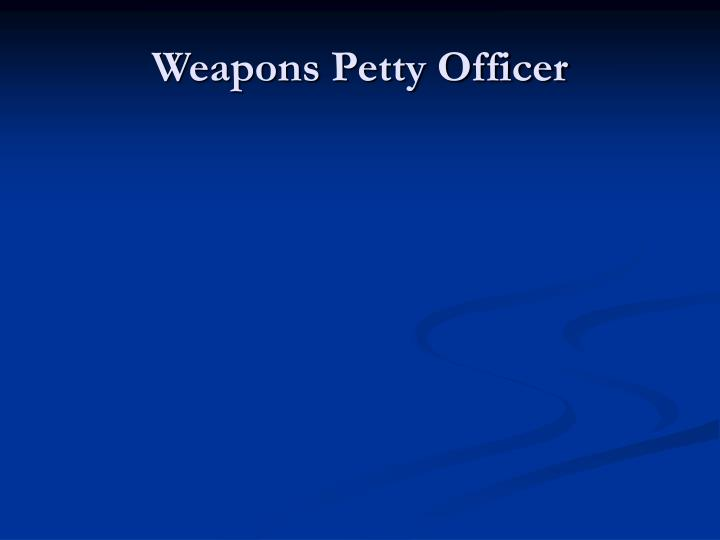 Weapons Petty Officer
