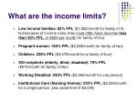 what are the income limits