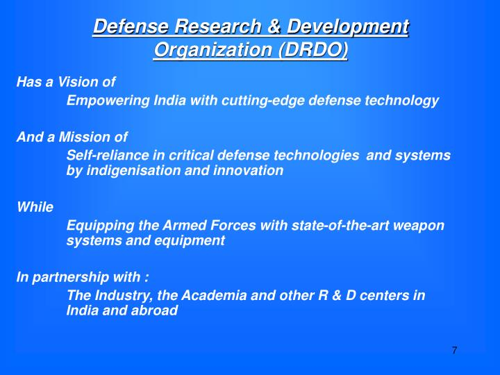 Defense Research & Development Organization (DRDO)