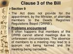 clause 3 of the bill