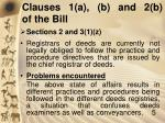 clauses 1 a b and 2 b of the bill