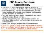 cbs issues decisions recent history2