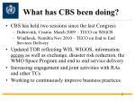 what has cbs been doing