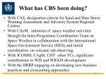 what has cbs been doing2