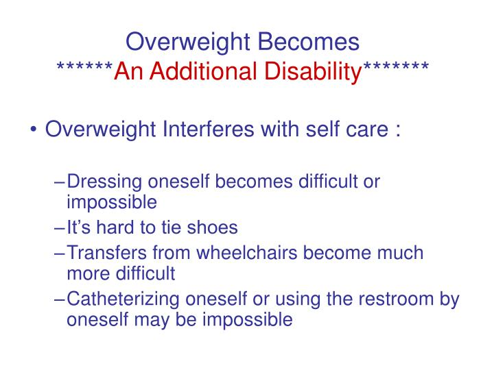 Overweight Becomes