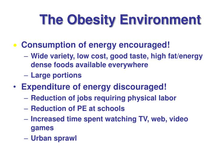 The Obesity Environment