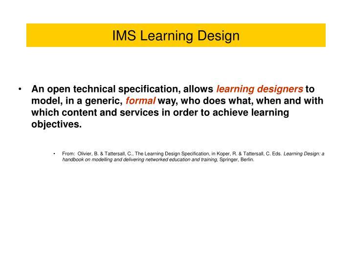 Ims learning design