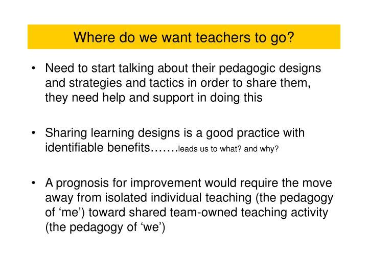 Where do we want teachers to go?