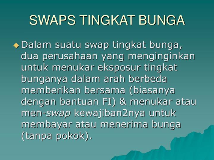 SWAPS TINGKAT BUNGA