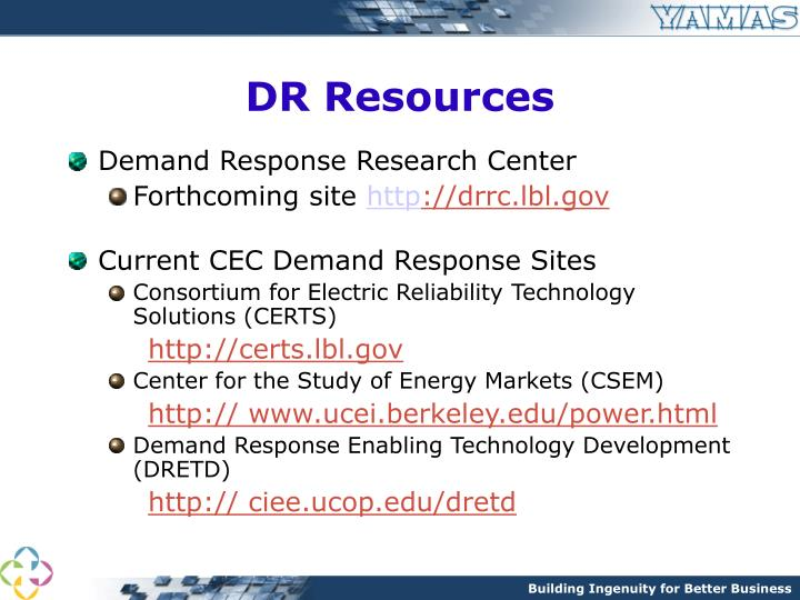 DR Resources