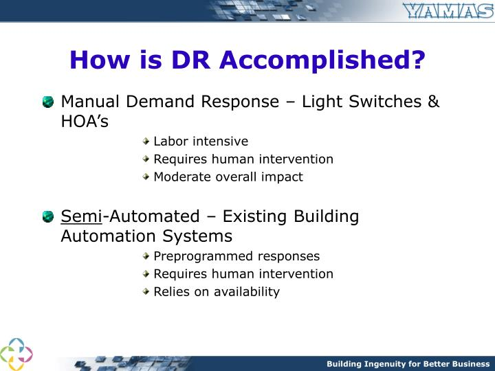 How is DR Accomplished?
