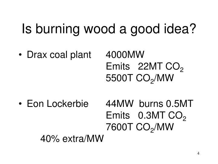 Is burning wood a good idea?