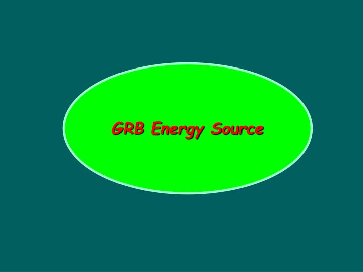 GRB Energy Source