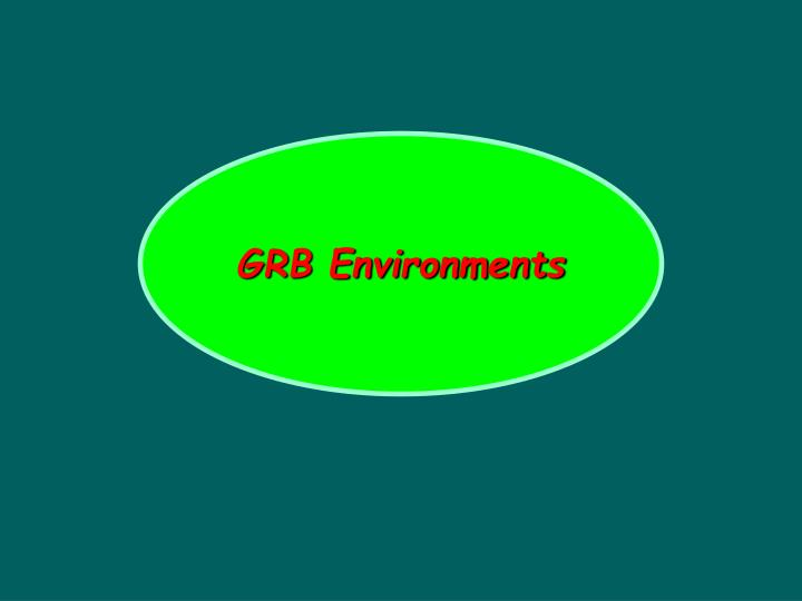 GRB Environments