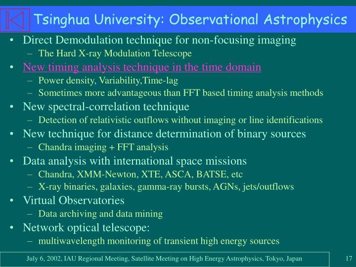 Tsinghua University: Observational Astrophysics