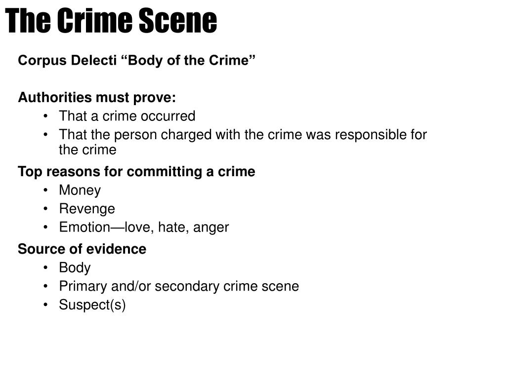 PPT - The Crime Scene PowerPoint Presentation - ID:4047703