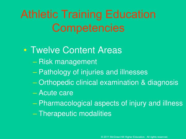 Athletic Training Education Competencies