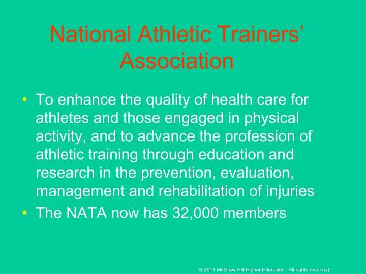 National Athletic Trainers' Association
