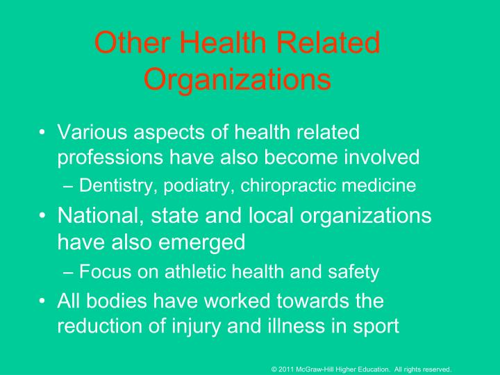 Other Health Related Organizations