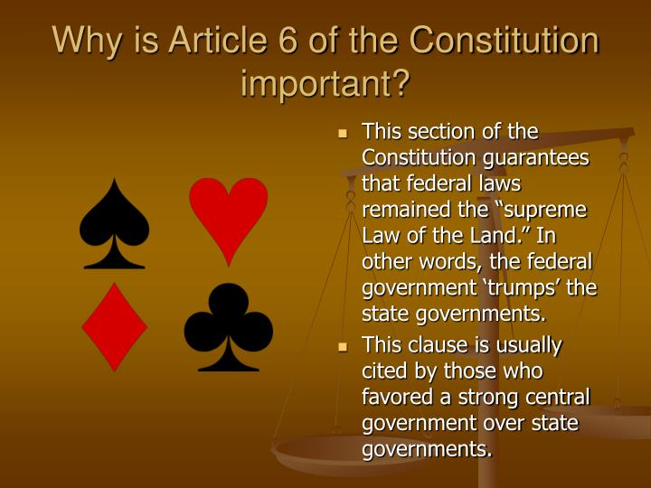 article ii of the constitution is important because it