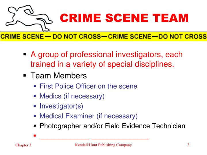 discuss the responsibilities of the first responding officer at the crime scene Understand the importance of case management in the law enforcement process understand the role and responsibilities of the first responding officer at a crime scene apply basic interviewing techniques when taking statements during the course of a criminal investigation identify the process for gathering evidence in the.