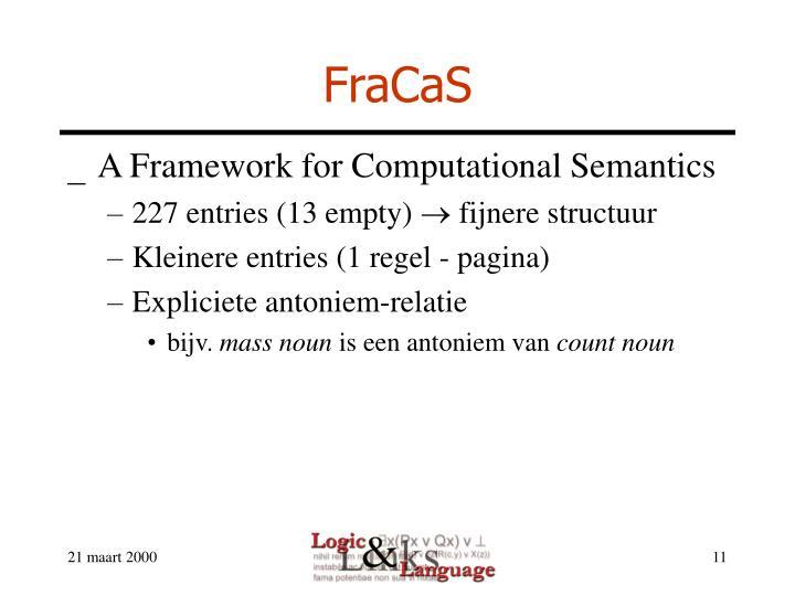 FraCaS