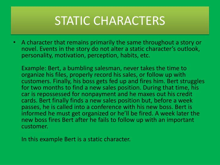 ppt - characterization powerpoint presentation - id:4047907