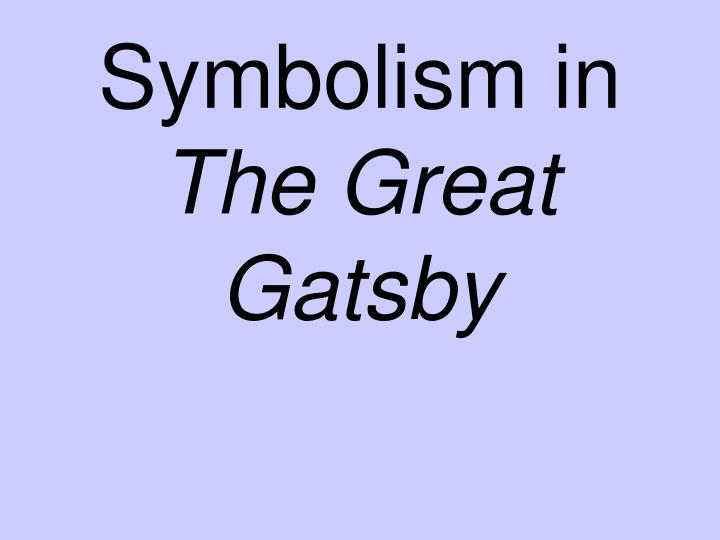 symbolism in the great gatsby n.